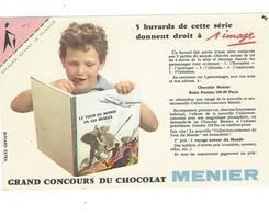 BUVARD  CHOCOLAT  MENIER   N 1 COIN ROSE    *****       A SAISIR   ****** - Cacao