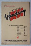 Brochure Prix Publicité CINEMA Pub KH Vandam 1948 Salles De Cinéma - Vieux Papiers