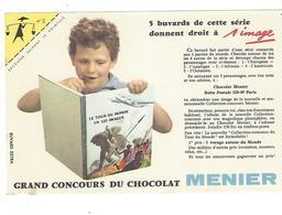 BUVARD  CHOCOLAT  MENIER   N 2 COIN JAUNE      *****       A SAISIR   ****** - Cacao