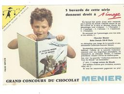 BUVARD  CHOCOLAT  MENIER   N 2 COIN JAUNE      *****       A SAISIR   ****** - Cocoa & Chocolat