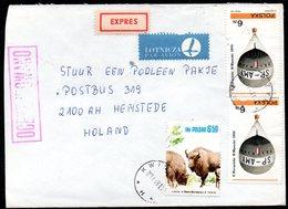 POLAND 1981 SOLIDARITY SOLIDARNOSC PERIOD MARTIAL LAW OCENZUROWANO CENSORED MAUVE CACHET WITH NO NUMBER KWIDZIN HOLLAND - 1944-.... Republik