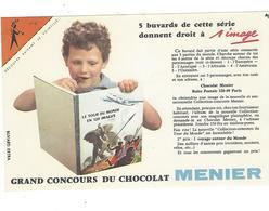 BUVARD  CHOCOLAT  MENIER   N 4  COIN Orange *****       A SAISIR   ****** - Cacao
