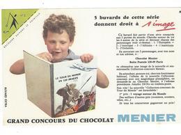 BUVARD  CHOCOLAT  MENIER   N 5  COIN  Vert  *****       A SAISIR   ****** - Cocoa & Chocolat