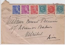 JURA ENV 1942 LONS LE SAUNIER MERCURE PETAIN ET BRIAND BELLE COMPO - Postmark Collection (Covers)