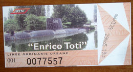 Italia Ticket Metro Bus ATM Milano - Usato 2005 Sommergibile Enrico Toti - Europe