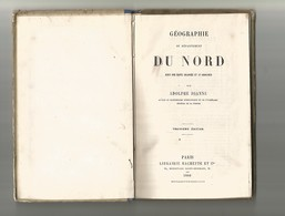 Géographie Du Nord-17 Gravures-1 Carte-1880-couverture Tachée - Picardie - Nord-Pas-de-Calais