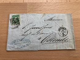 N°30 Pli Commercial D'Anvers Vers Ostende 17 Avril 1871 12S De Roy Et Cie Négociant En Tabac Anvers - 1869-1883 Léopold II
