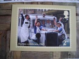 PHQ Fin De La 2ème Guerre Mondiale, Nurses Celebrate 1945, Les Infirmières Célèbrent 1945 - Timbres (représentations)