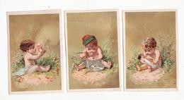 Chromo  Sans Pub    Lot De 5    Enfants, Fleurs, Poupée, Loupe, Insecte     11.3 X 7.5 Cm - Trade Cards