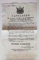 Napoleone, Decreto Per La Modifica Dei Distretti E Dipartimenti - Eugenio Napoleone Ancona 25 Luglio 1808 - Decrees & Laws