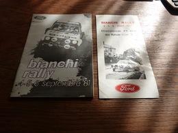 Programme Et Règlement Rallye Bianchi 1981 - Ford Escort - Automobilismo - F1