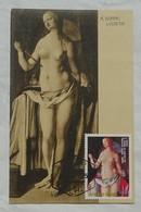 Carte Maximum Card Durer Suicide De Lucrece  1975 Guinée Equatoriale Guinea Ecuatorial - Nudes