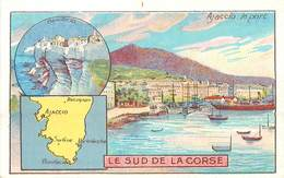 CHROMOS - LIBRAIRIE HACHETTE - DEPARTEMENT - LE SUD DE LA CORSE - Vecchi Documenti