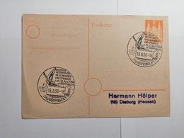 Deutsche Postkarte 1950 Meisterschaften Im Schwimmen - Covers & Documents
