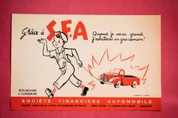 Buvard S.F.A. Société Financière AUTOMOBILE, Camion - Banco & Caja De Ahorros