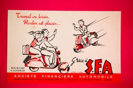 Buvard S.F.A. Société Financière AUTOMOBILE, Vespa, Scooter - Banque & Assurance