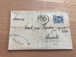 N°31 Pt 217 Pli Commercial De Liège Vers Bruxelles 28 Sep 1871 Banque Nagelmackers Et Fils Liège - 1869-1883 Léopold II