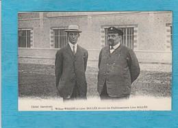 Wilbur Wright Et Léon Bollée, Devant Les Établissements Léon Bollée. - ( Le Mans ). - Aviation