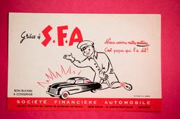Buvard S.F.A. Société Financière AUTOMOBILE, Voiture - Banco & Caja De Ahorros