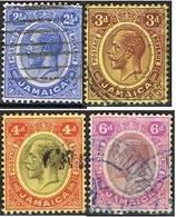 COLONIE ANGLAISE-JAMAIQUE - 61-62-63-64 - Jamaica (...-1961)