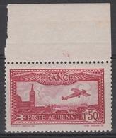 PA 5** 1.50F. CARMIN AVION SURVOLANT MARSEILLE - 1927-1959 Mint/hinged
