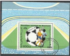 Mauritania - 1986 World Cup Soccer S/sheet CTO  SG MS856 - Mauretanien (1960-...)