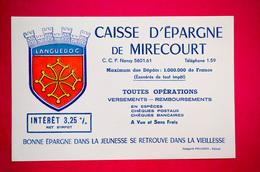 Buvard CAISSE D'ÉPARGNE De MIRECOURT, Vosges - Banco & Caja De Ahorros