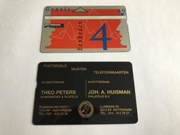 5:303 -  Netherlands Private Card On 4 Gulden - Niederlande