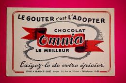 Buvard Chocolat OMNIA, Usine à Saint-Dié, Vosges - Cocoa & Chocolat
