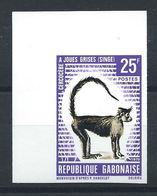 "Gabon N°263** (MNH) 1970 N. Dentelé - Faune ""Singe à Joues Grises"" - Gabun (1960-...)"
