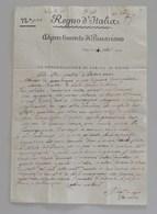 Regno D'Italia, Dipartimento Di Passariano Udine 14 Settembre 1850 La Congregazione Di Carità Di Udine Per Palmanova - 1. ...-1850 Prefilatelia