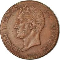 Monnaie, Monaco, Honore V, 5 Centimes, Cinq, 1837, Monaco, TTB, Cuivre - 1819-1922 Honoré V, Charles III, Albert I