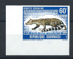 "Gabon N°265** (MNH) 1970 N. Dentelé - Faune ""Genette Servaline"" - Gabun (1960-...)"