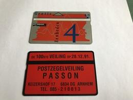 5:323 -  Netherlands Private Card On 4 Gulden - Niederlande