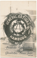 """Bonne Année Du """"GENERAL ARTIGAS"""" De HAMBURG - Carte Photo - Steamers"""