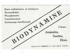 BUVARD  BIODYNAMINE   LABO  OBERLIN   *****           A SAISIR   ****** - Produits Pharmaceutiques