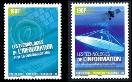 POLYNESIE 2004 - Yv. 719 Et 720 **   Faciale= 3,19 EUR - Informatique Et Communication (2 Val.)  ..Réf.POL24786 - Polynésie Française