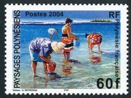 POLYNESIE 2004 - Yv. 735 **   Faciale= 0,50 EUR - Paysages Polynésiens, Par A. Deymonaz  ..Réf.POL24789 - Polynésie Française