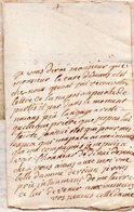 MADAME GOUVILLE DE GRANDPRE.Lettre Manuscrite Signée.Envoyée à Monsieur Du Motté,conseiller Du Roi à Falaise.21 Août 17 - Handtekening