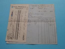 Léon PIOLLET ( Grenoble ) Epicerie En Gros Cafés ( Fact. / Chèque ) Anno 1922 ( Zie/voir Photo) ! - Andere