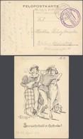 """Bataillon Allemand - Feldpostkarte (Seewehrball In Ostende) + Briefstempel """"Kaiserliche Marine / Kommando Der 1. Marine - WW I"""
