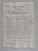 Regno D'Italia, Dipartimento Del Mella, Brescia 23 Luglio 1812, La Congregazione Di Carità Per Salò - 1. ...-1850 Prefilatelia