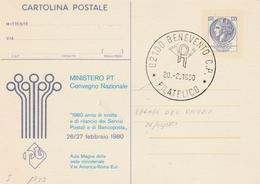 Italia, Cartolina Postale Da L.120 Convegno Nazionale Pt ( Curiosità Errore Datario )  C/181 - Postwaardestukken