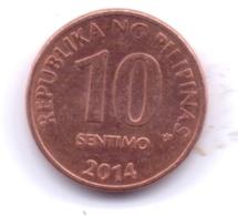 PHILIPPINES 2014: 10 Sentimo, KM 270 - Philippines