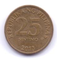 PHILIPPINES 2013: 25 Sentimo, KM 271a - Philippines