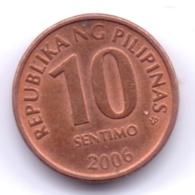 PHILIPPINES 2006: 10 Sentimo, KM 270 - Philippinen