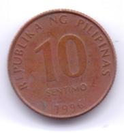PHILIPPINES 1996: 10 Sentimo, KM 270 - Philippinen
