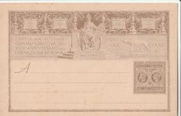 Italia Regno , Cartolina Postale Da C. 10 Liberazione Di Roma C/28 - Entiers Postaux