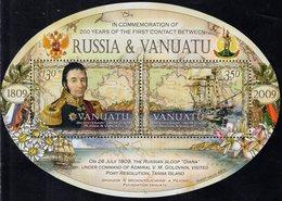Vanuatu - 2009 - Bicentenary Of First Contact Between Vanuatu And Russia - Mint Souvenir Sheet - Vanuatu (1980-...)