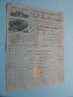 PRAT, CHEVALIER & SOULAGE Usines De L'Isére ( Grenoble ) Machines Agricoles ( Fact. ) Anno 1913 ( Zie/voir Photo) ! - Andere
